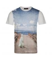 Trussardi Jeans t-shirt med motiv