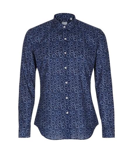 Xacus skjorte i blå / hvid