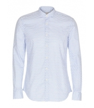 Xacus skjorte i blå / hvid med lille krave