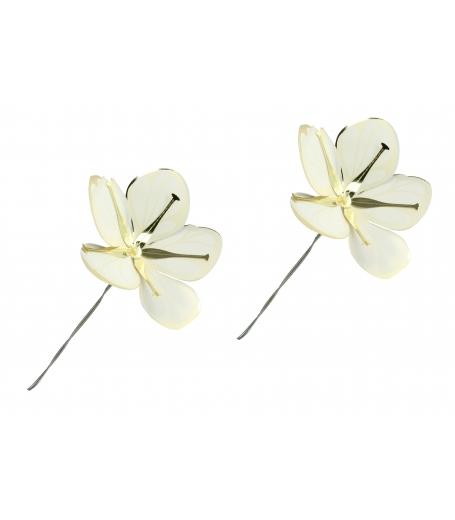 Blomster i Hvid og guld, medium