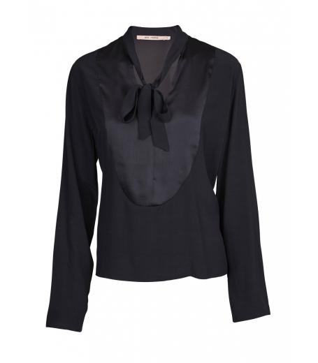 Bluse med bånd fra Rue de Femme - Evy