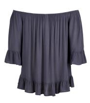 Bluse med flæser fra Saint Tropez - N1148