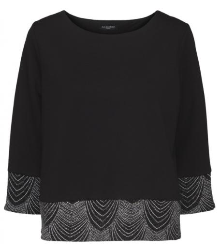Bluse med glitter fra Ilse Jacobsen - CAYLA43