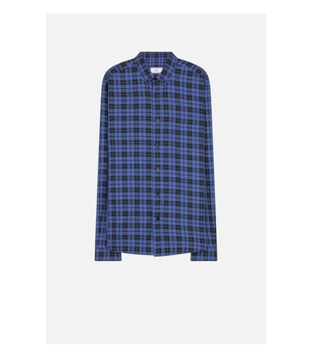 BUTTON-DOWN SHIRT - BLUE/BLACK