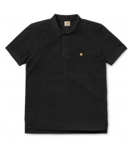 Carhartt S/S Slim fit Polo sort / gold