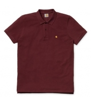 Carhartt S/S Slim fit Polo chianti / gold