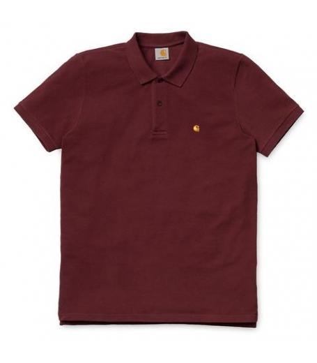 Carhartt S/S Slim fit Polo chianti / gold
