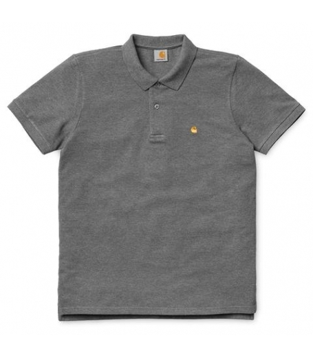 Carhartt S/S Slim fit Polo mørkegrå
