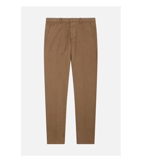 CHINO TROUSERS - TOBACCO