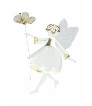 Dansende Fe med blomst, medium