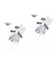 Dansende feer lilla/pink/sølv, små