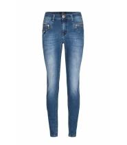 Denim jeans fra Bessie med zip