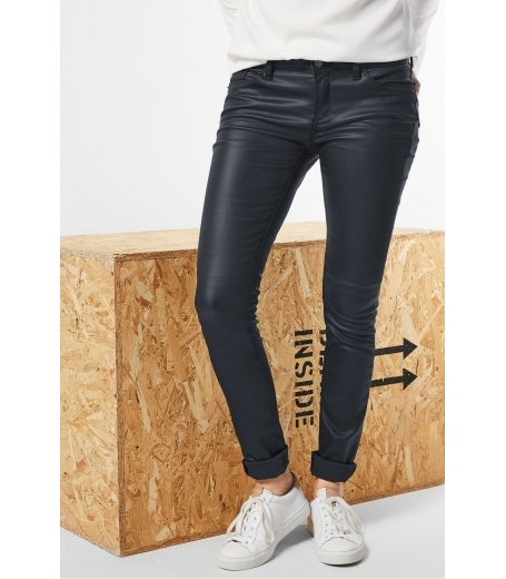 Denim Slim bukser fra Street One - 370453