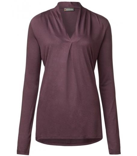 Elise V-neck pleat shirts