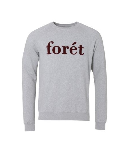 Foret sweatshirt grå/burgundy
