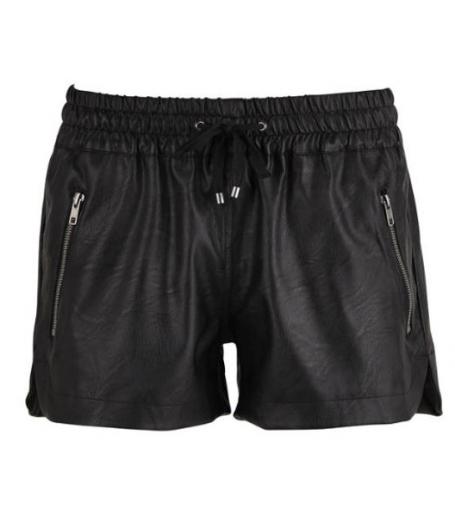 Imitated Leather shorts