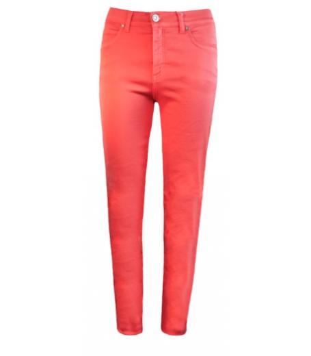 Jeans med super stretch fra Bessie i koral