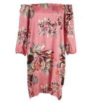 Kjole med blomsterprint fra Saint Tropez - N6148