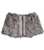 Lamb fur collar