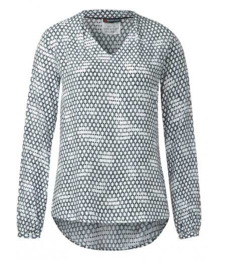 Langærmet bluse med print fra Street One - Callie