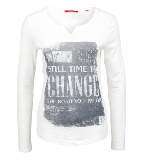 Langærmet t-shirt fra S.Oliver - 14.601.31.3539