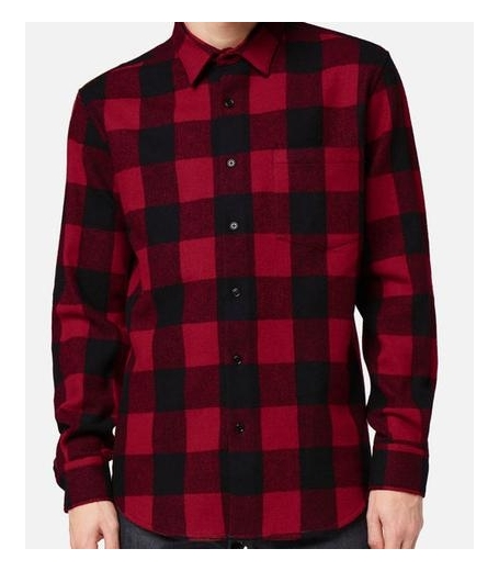 LARGE FIT SHIRT - BLACK/RED