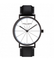 Larsen & Eriksen Watch 41 mm Black / White / Blac