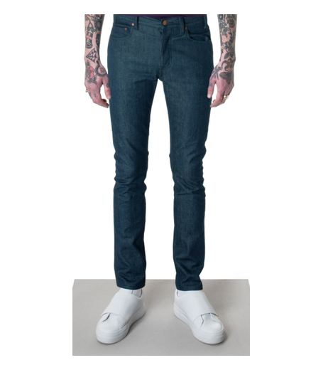 LEAN FITTED JEANS - BLUE BLACK STRETCH