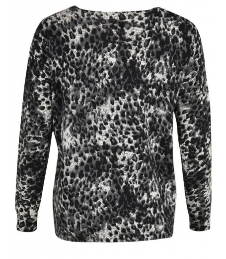 Leopard Printed Knit Blouse
