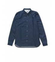 LESTER B SHIRT - MEDIUM BLUE