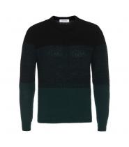 Mauro Grifoni strik sweater i sort/grøn