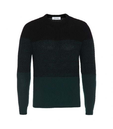 Mauro Grifoni strik sweater i sort/grøn