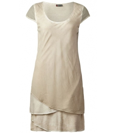 Materialmix oil wash dress