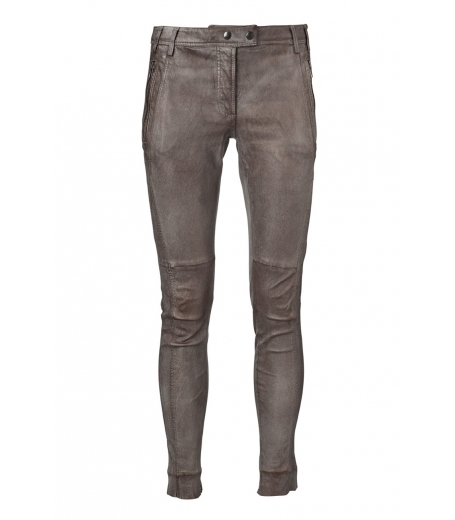 Metallic stretch slim pants
