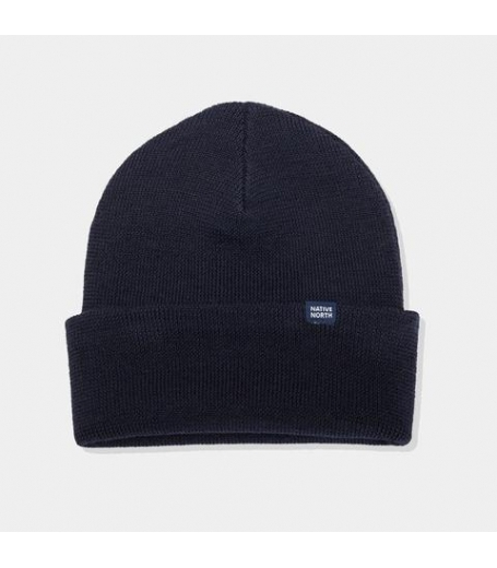 Native North Merino Beanie Dark Navy