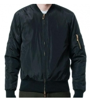 NYLON BOMBER - BLACK