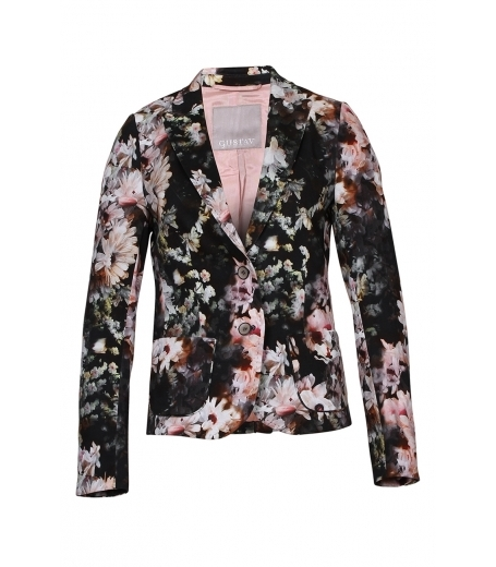 Printed stretch blazer