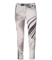 Printed stretch pants