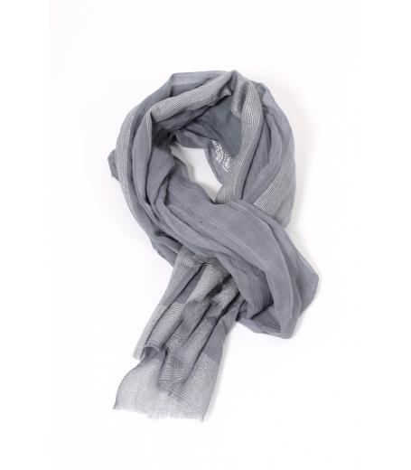 Printet wool/lurex scarf