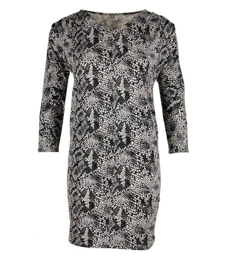 REPTILE PRINTED JERSEY DRESS - SAINT TROPEZ N6507
