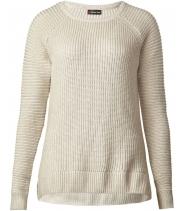 Rib mix coated pullover