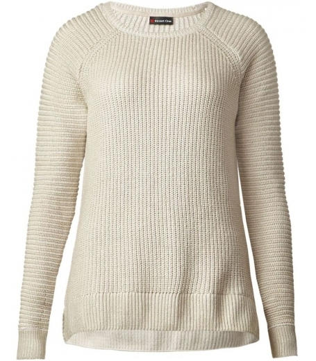 Rib mix coated pullover