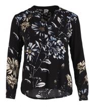 Skjorte med blomsterprint fra Saint Tropez - P1183