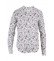 Skjorte med print fra Rue de Femme - DOT HARLEKIN