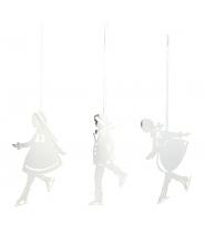 Skøjtebørn i sølv - 3 stk.
