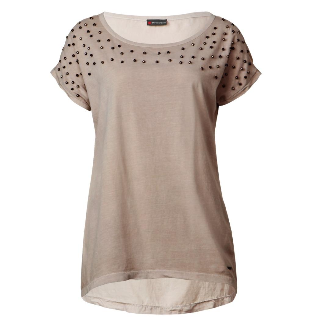 street one t shirt med perler. Black Bedroom Furniture Sets. Home Design Ideas
