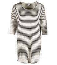 Striped jersey tunic