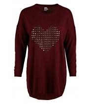 STUD HEART KNIT DRESS