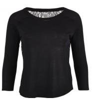 Sweater med blonderyg fra Saint Tropez - N2678