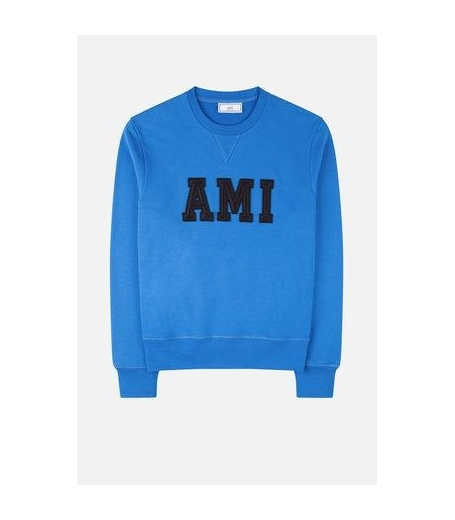 SWEATSHIRT PATCHED AMI LETTERS - ROYAL BLUE